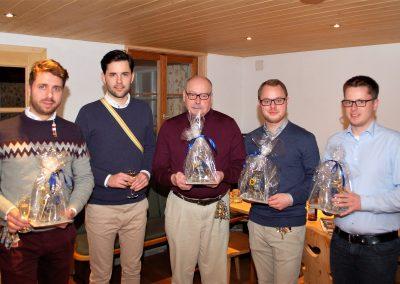 Moritz Findeisen, Johannes Winkel, Hermann-Josef Großimlinghaus, Lennart Biesenbach und Alexander Drees (v.l.n.r.)